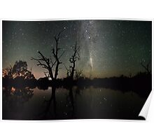 Comet Lovejoy Reflections Poster