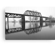Railroad Bridge over the Snohomish River Canvas Print