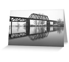 Railroad Bridge over the Snohomish River Greeting Card