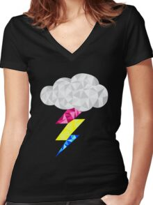 Pansexual Storm Cloud Women's Fitted V-Neck T-Shirt