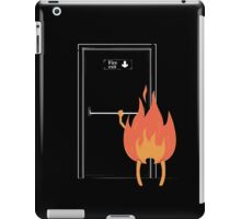 Fire exit iPad Case/Skin