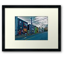 Store Fronts Framed Print