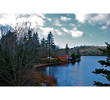 Red House by the Lake Photographic Print