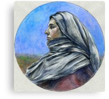 """""""Draped figure in a Moorland"""" Canvas Print"""