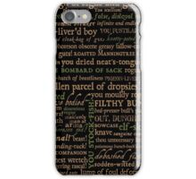Shakespeare Insults Dark - Revised Edition (by incognita) iPhone Case/Skin