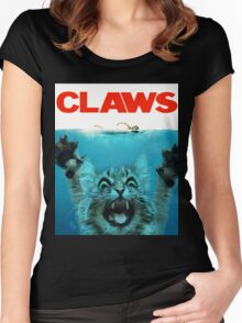 Meow Claws Parody Women's Fitted Scoop T-Shirt