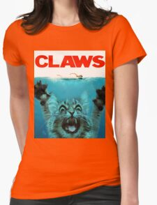 Meow Claws Parody Womens Fitted T-Shirt