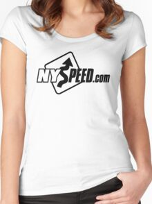 NYSpeed Logo BLACK for LIGHT BACKGROUNDS Women's Fitted Scoop T-Shirt