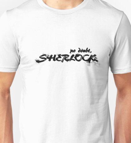 No Doubt, Sherlock (Black) Unisex T-Shirt
