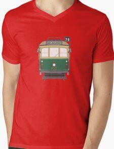 Melbourne Heritage Tram Mens V-Neck T-Shirt
