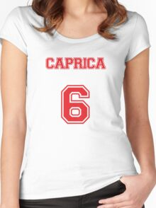 Caprica 6 Women's Fitted Scoop T-Shirt