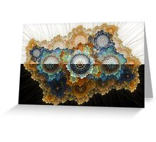 Outer space coral Greeting Card