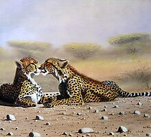 Kissing Cheetahs   by Mutan