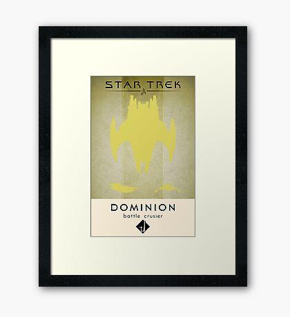 Dominion Battle Cruiser Framed Print