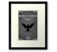 Night's Watch Framed Print