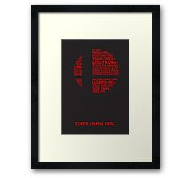 Super Smash Bros. Typography Framed Print