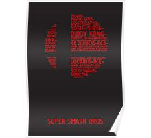 Super Smash Bros. Typography Poster