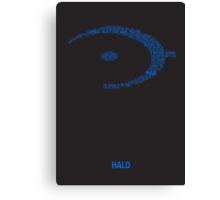 Halo Typography [Blue] Canvas Print