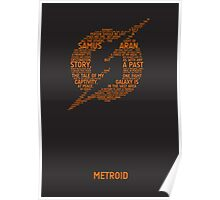 Metroid Typography Poster