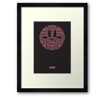 Kirby Typography Framed Print