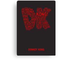 Donkey Kong Poster Canvas Print