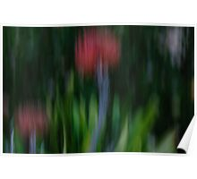 Movement in the garden Poster