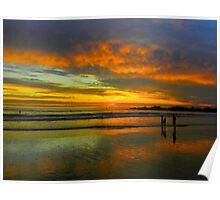 Multicolored Sunset Poster