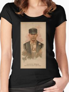 Benjamin K Edwards Collection James Ryan Chicago White Stockings baseball card portrait Women's Fitted Scoop T-Shirt