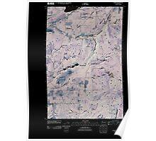 USGS Topo Map Washington State WA Camden 20110406 TM Inverted Poster