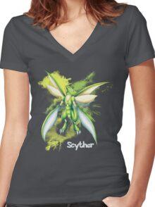 Scyther Shirt Women's Fitted V-Neck T-Shirt