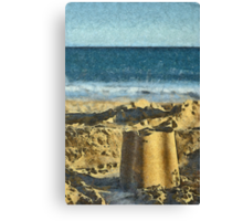 Playing On The Beach Canvas Print