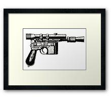 Han Solo's Blaster Stencil Framed Print