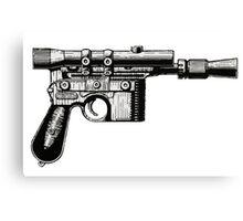 Han Solo's Blaster Stencil Canvas Print