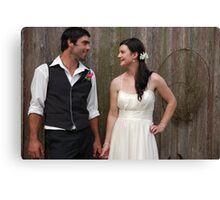 Newly Weds Canvas Print