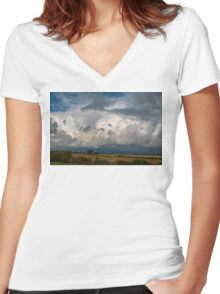 Cloudscape Women's Fitted V-Neck T-Shirt