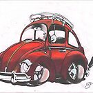 Cheeky Beetle by Sharon Poulton