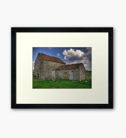 Old Barn - Lastingham Framed Print