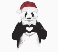 Santa panda Baby Tee