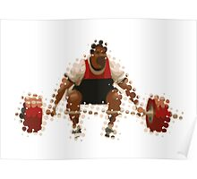 2012 Olympics Weightlifter Poster