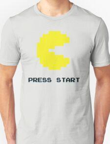 YELLOW PACMAN RETRO PRESS START ARCADE TSHIRT T-Shirt