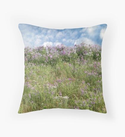 Another Springtime Hill Throw Pillow