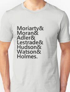 Sherlock Names (Grey) T-Shirt