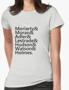 Sherlock Names (Grey) Womens Fitted T-Shirt