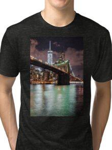 Brooklyn Bridge & Freedom Tower Tri-blend T-Shirt