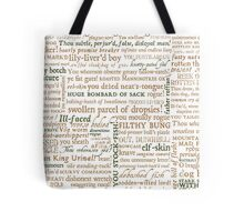Shakespeare's Insults Collection - Revised Edition (by incognita) Tote Bag