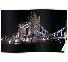 Tower Bridge at Night Poster