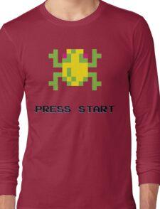 FROGGER RETRO PRESS START ARCADE TSHIRT Long Sleeve T-Shirt