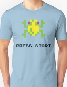 FROGGER RETRO PRESS START ARCADE TSHIRT Unisex T-Shirt