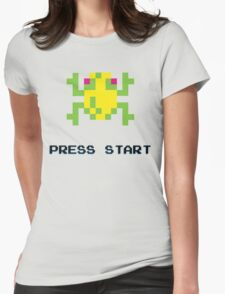 FROGGER RETRO PRESS START ARCADE TSHIRT Womens Fitted T-Shirt