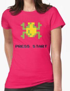 FROGGER RETRO PRESS START ARCADE TSHIRT Womens Fitted T-Shirt
